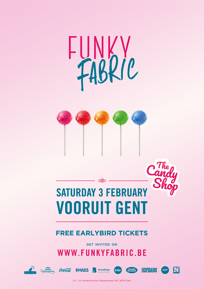 Funky Fabric - Sat 03-02-18, Kunstencentrum Vooruit