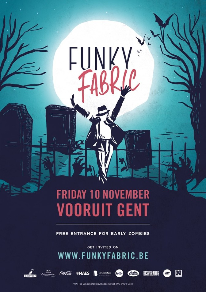 Funky Fabric - Creepy & Freaky - Fri 10-11-17, Kunstencentrum Vooruit