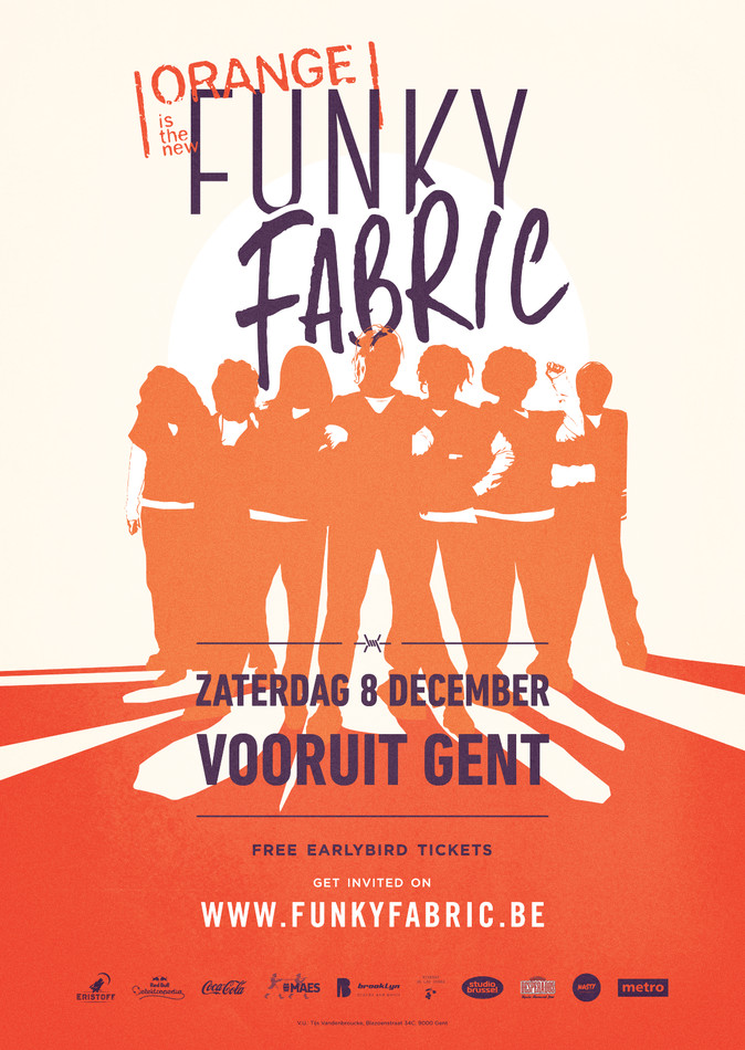 Funky Fabric - Orange - Sat 08-12-18, Kunstencentrum Vooruit